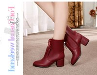 Wholesale 2014 NEW high quality Women Boots Fashion brand Boots Autumn and winter women shoes Genuine leather keep warm High heel boots NXZ73