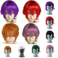 Wholesale 7Colors Short straight Hair Multi Color Cosplay Costume Wigs for Party Worldwide sale Drop Shipping