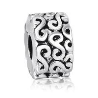 Charms art pandora - 2014 Enamel crimp S Round Clip Design Sterling Silver European Bead Charm Costume Art Jewelry Snake pandora Bracelet up1