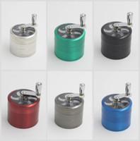 Wholesale tobacco grinder mm layers Zicn alloy hand crank tobacco grinders metal grinders for herbs herbal grinders for tobacco