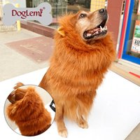 Wholesale per Large Pet Dog Cat Lion Wigs Mane Hair Festival Party Fancy Dress Clothes Costume