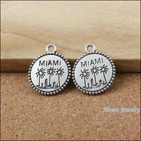 antique jewelry miami - 30 Vintage Charms miami Pendant Antique silver Fit Bracelets Necklace DIY Metal Jewelry Making