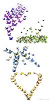 bedroom sets sales - Hot Sales Decorative D Butterfly Wall Stickers As a Set Sticker Art DIY Decal Home Room Decor Butterflies TX267