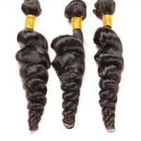 24 inch clip in human hair extensions - Unprocessed A Virgin Hair Brazilian Virgin Loose Curly Wave Human Hair Bundles Hair Extensions Hair Wefts inch