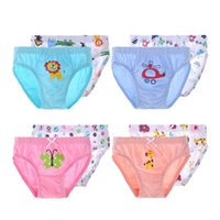 Wholesale 2Pcs set Kids Boys girls Cotton underwear Children Cartoon panties Children s Brief T T Clothing New brand