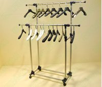 belt clothing store - Clothing store island landing aircraft hangers show clothes belt pulley stainless steel telescopic parallel bars