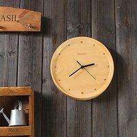 beech wall clock - LOVECITY HOME original beech minimalist living room wall clock