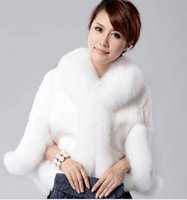 acura xl - Fox fur collar Maokan Acura luxury imitation shoulder imitation fur coat