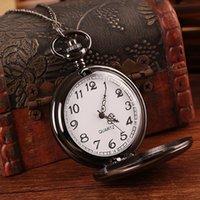 classical pocket watch - Classical cm Round Polish Quartz Watch Retro Pendant Pocket Watch Necklace Chain Watch Gift for Men Women Lover W91