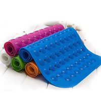 Wholesale Factory Bath Mats Antislip Massage Mats Colorful Bathroom Pierced PVC Plastic Safe Pad with Suction Cups