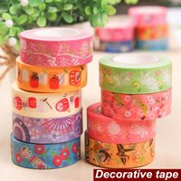 scrapbooking supplies - TOP Washi paper tape Japanese feature Tumbler Fortune cat adhesive masking tapes DIY scrapbooking stickers supplies