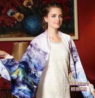Precio de Mejores bufandas de moda-El nuevo Qulity Qulity de seda del resorte 100% del mantón de la bufanda del invierno de la muchacha de la manera del envío libre con las flores Digitaces imprimió 69X21inch