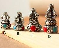 Wholesale mm Tibet inlay silver Three Pagoda DIY beads accessories