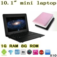 Wholesale DHL Mini Netbook inch Dual Core Mini Laptop Android VIA Cortex A9 GHZ HDMI WIFI GB RAM GB ROM XB10