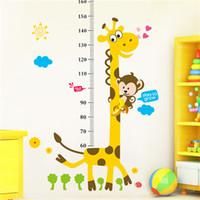 Pegatinas de pared Pegatinas de pared Mural extraíble Giraffe Decoración de la habitación de los niños Wall Stikers Gráfico de crecimiento de la guardería Kids Kids PVC Wall Stickers