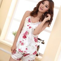 Wholesale Feitong New Arrival New Fashion Womens Sexy Pajamas Set Blouse Shirt and Shorts Sleepwear Whloesale