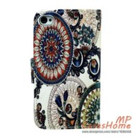 Wholesale European Classic Tribe Pattern Brown Round Beautiful Picture Cell Phone case PU Leather PC Hard Cover for Apple iPhone4s