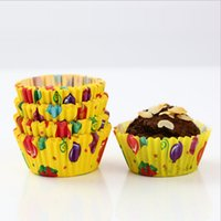 Wholesale Cheap Lovely Print Cupcake Baking Paper Cup Muffin Cases High Quality Heat Resisting Cupcake Liners Wedding Party Backing Cups