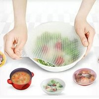 Wholesale Silicone Wraps Seal Cover Stretch Cling Film Keep Food Fresh Big Size