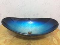 art real estate - 4263 Construction Real Estate Bathroom Painting Art Washbasin Tempered Glass Vessel Sink