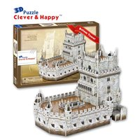 belem tower - Top Quality World famous buildings Jigsaw Model D Puzzle Belem Tower DIY Xmas Gift Toys for childrens day Learning Education