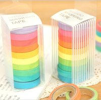 Wholesale New high quality bright candy solid color washi masking tape washi tape paper tape