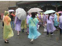 adult rain slicker - One time Raincoat Fashion Hot Disposable PE Raincoats Hooded Long Sleeve Poncho Rainwear Travel Rain Coat Rain Wear Slicker