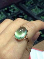 14k gemstone ring - 14K gold plated green gemstone ring crystal green stone ring solid gold finger ring