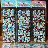 Wholesale 2016 New Anime Cartoon Stickers D PVC Bubble Stickers Kids Classic Toys Craft baby Children