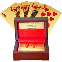 Wholesale DHL new plating k carat gold foil casino poker CARDS special gifts