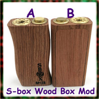 wood door - S box mod wood box mod mechanical mod dual battery Copper contact pin mm magnets Kamagong wood Unibox sliding door