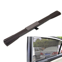 Wholesale Durable Car Retractable Window Sun shading Curtain Heat insulated Gray