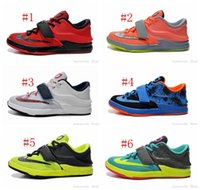 kids kevin durant shoes - Cheap Basketball Shoes Kevin Durant KD VII Kids White Yellow Green Sneakers Sports Shoes Tranining Shoes Athletic Shoes Size