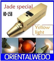 Wholesale new Flashlight Jade jade jewelry ceramic identification V light xenon rechargeable flashlight good quality
