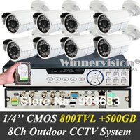 Wholesale Built in GB CMOS TVL CH complete CCTV system Kit TVL HDMI with outdoor weatherproof D N IR Cameras