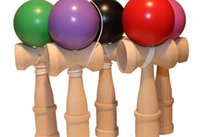 Wholesale Big size cm Kendama Ball Japanese Traditional Wood Game Toy Education Gift mix colors