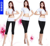 Wholesale Yoga Outfits spring and summer new fashion women s short sleeved suit yoga clothes yoga fitness dance clothes Slim t