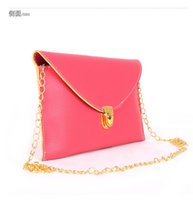Cheap New Hot Autumn new handbag street style casual fashion personality female bag candy colored envelope bag wholesale PU 100% brand new 14 colo