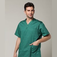 medical scrubs - 100 cotton Surgery uniform spa uniforms Massage doctor scrubs set Medical Clothes with pant hat resist high temperature