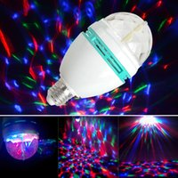 Wholesale E27 RGB Effect LED Rotating Stage Crystal Ball LED Light Lamp for Disco DJ AC85 V White