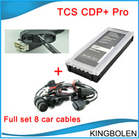 Wholesale 2015 Top selling cdp with newest delphi software with free cdp keygen for cars trucks generics with full set car cables DHL Free