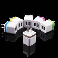 Dock Chargers apple dock charger - Home travel dual port Wall Charger dual usb port Power Adapter metal Mushroom US Plug Charging general For smartphone plus mp4