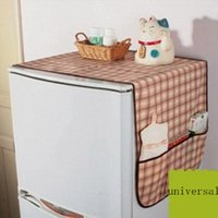 Wholesale 2pcs Non woven refrigerator dust cover towel refrigerator cover everything Universal receive bag Creative home