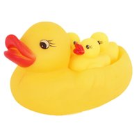 Cheap Sample Order 4pcs set Rubber Duck Baby Bath Toys Floating Squeeze-Sounding Rubber Ducks Baby Bathroom Classical Toys S30226