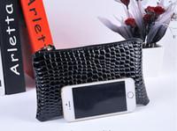Soporte de la bolsa de Nueva Mujeres Monedero Mini bolso de la señora de embrague de cuero plegable pequeña bolsa para el iphone 5 6 Plus 100pcs DHL libera la nave