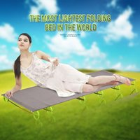 aluminum sun lounger - Outdoor Camping Bed Aluminum Military Folding Bed Sun Loungers Ultralight Modern Outdoor Furniture Daybed kg Fast Shipping