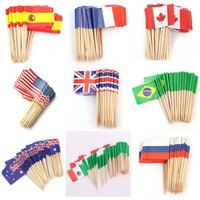 cupcake toppers - 50Pcs Set Handmade Cupcake Toppers Paper Flag Food Picks Cake Tool accessories Sticks Party Wedding Decoration Styles