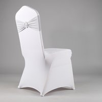 Wholesale SPANDEX BAND WITH ROUND BUCKLE FOR WEDDING AND PARTY BRAND CHAIR COVER DECORATION
