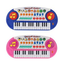 Wholesale 32 Keys Educational Cartoon Electone Musical Toy Multifunction Electronic Piano Keyboard Music Toy Gift for Children Babies Kids order lt no