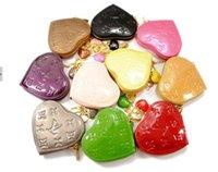 Wholesale Small wallet women s bags japanned leather heart pendant women s handbag heart women s key wallet coin purse